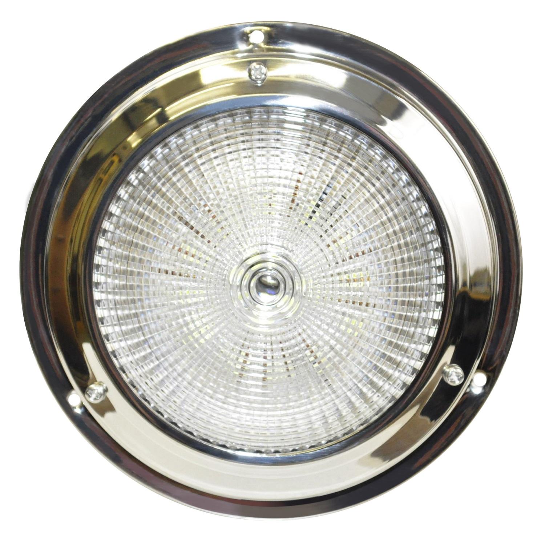 """SeaSense 5-1/2"""" Dome 18 LED White Stainless Steel Light"""