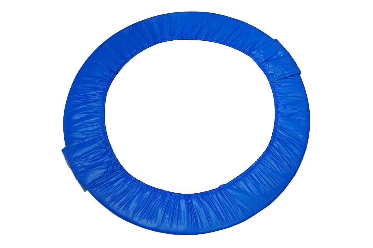 """38"""" Round Foldable Trampoline Safety Pad (Spring Cover) for 6 Legs - Blue"""