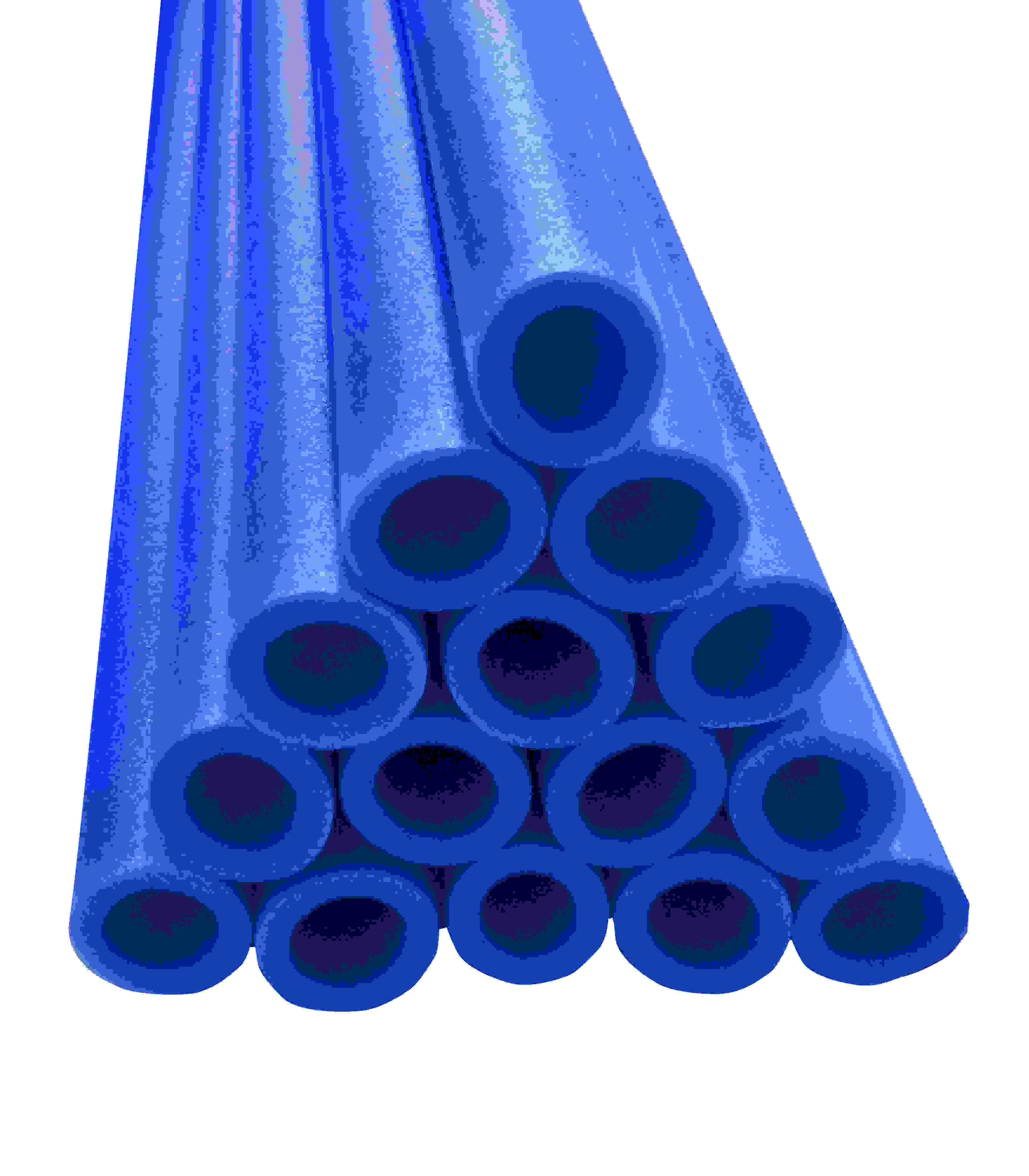 """44"""" Trampoline Pole Foam Sleeves, Fits 1.5"""" Diameter Pole, Set of 16, Blue"""