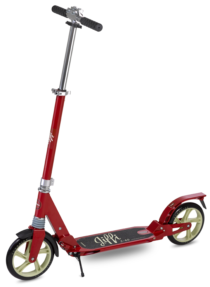 Scooride Jiffi J-40 Premium Folding Adult Kick Scooter - Red