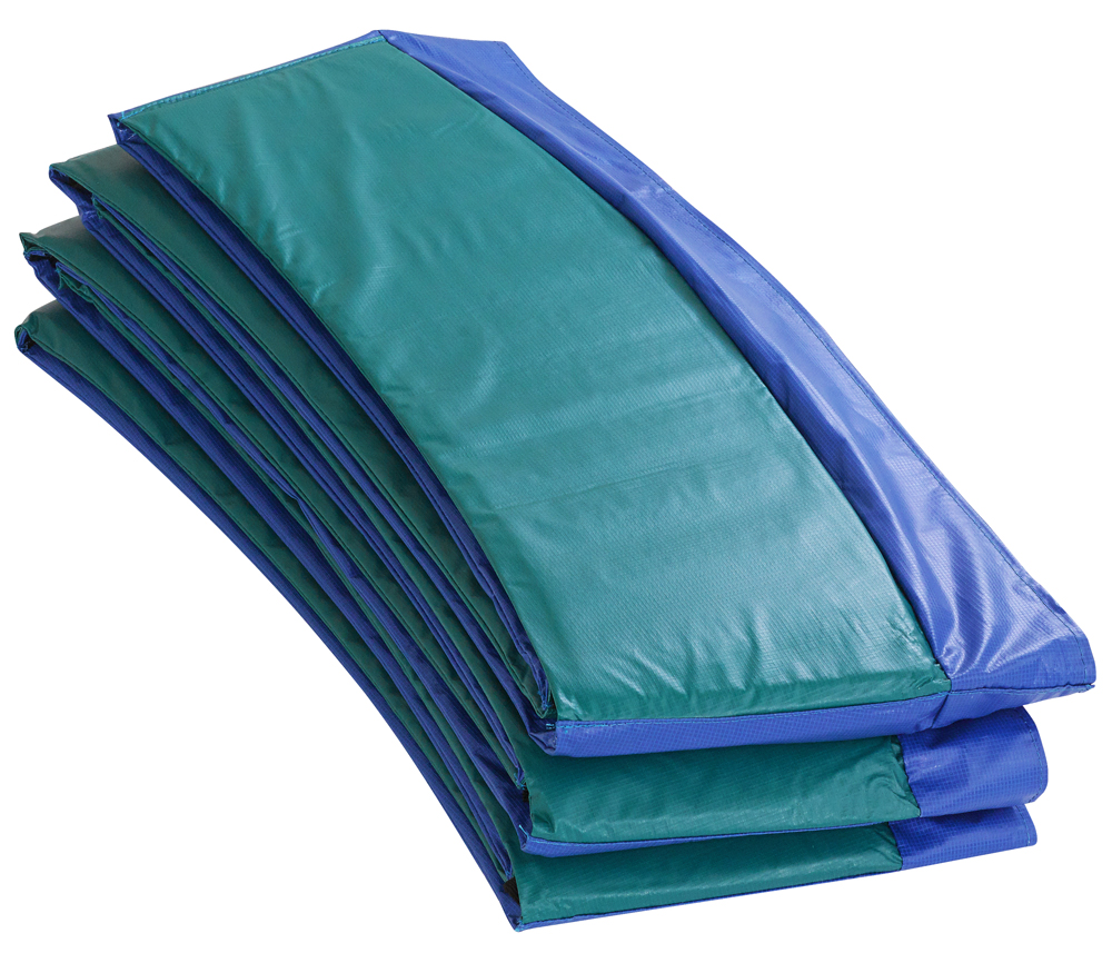 "12' Super Trampoline Safety Pad (Spring Cover) Fits for 12 FT. Round Trampoline Frames. 10"" wide - Blue/Green"