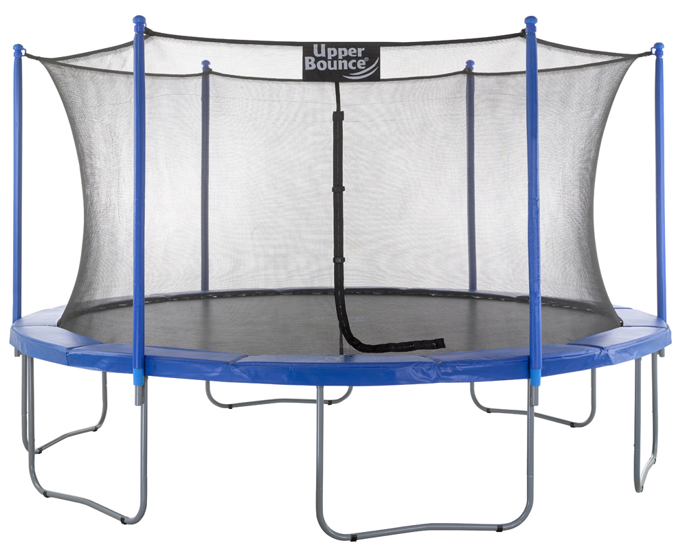 "14 FT. Trampoline & Enclosure Set equipped with the New ""EASY ASSEMBLE FEATURE"""