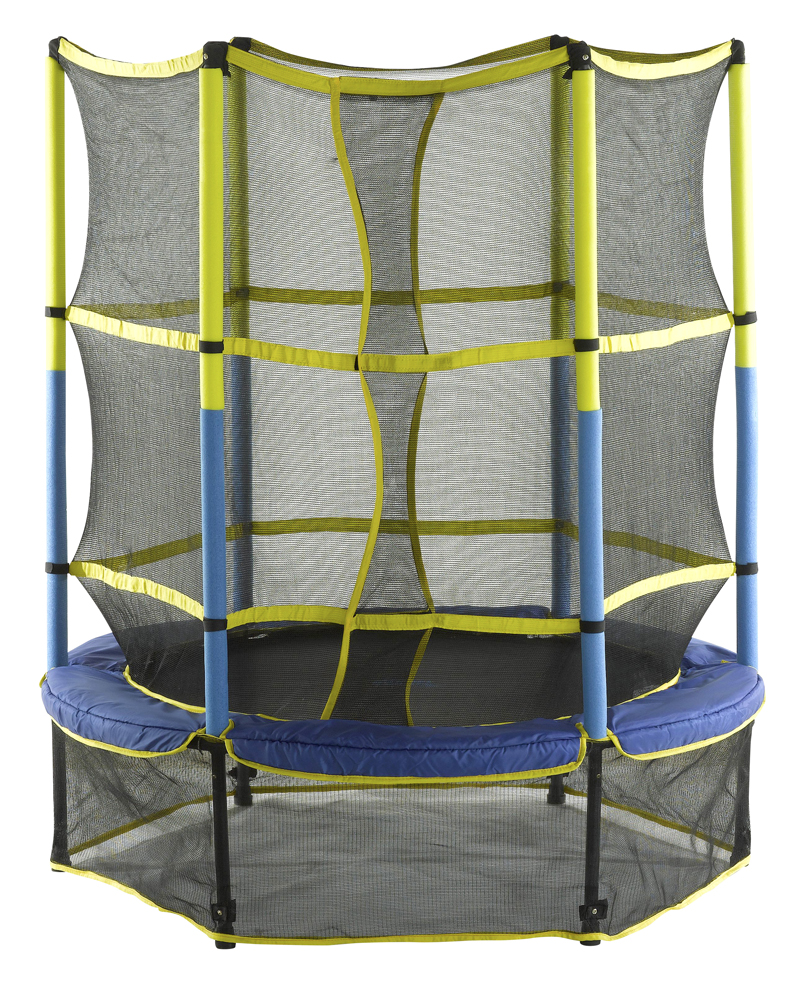 "55"" Kid-Friendly Trampoline & Enclosure Set equipped with Easy Assemble Feature"