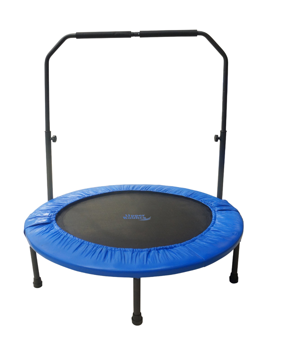 "40"" Mini Foldable Rebounder Fitness Trampoline with Adjustable Handrail"