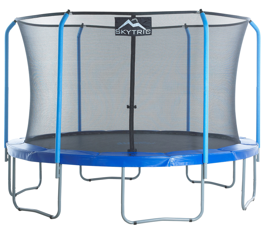 """SKYTRIC 11 FT. Trampoline with Top Ring Enclosure System equipped with the EASY ASSEMBLE FEATURE"""""""