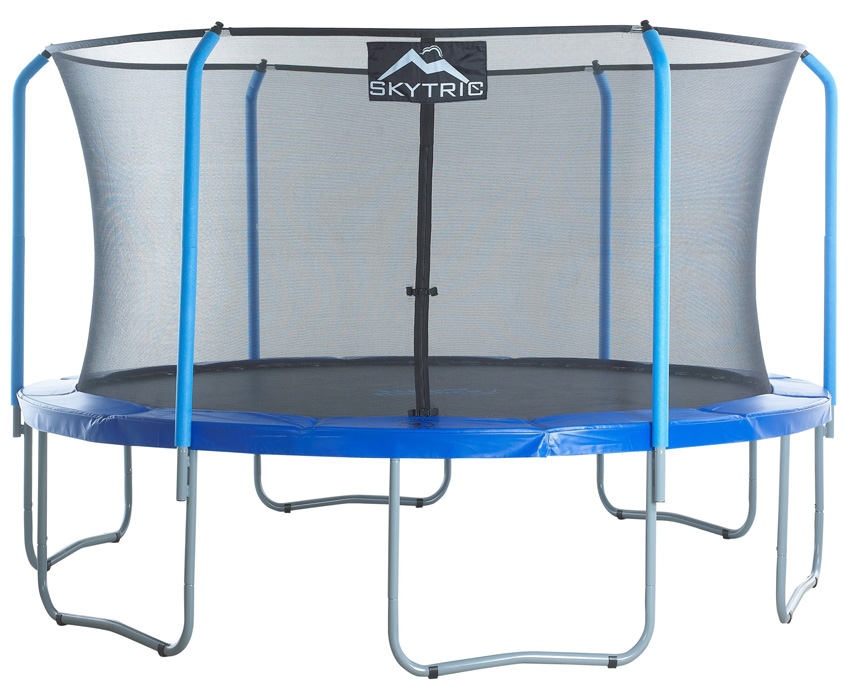 SKYTRIC 15 FT. Trampoline with Top Ring Enclosure System equipped with the EASY ASSEMBLE FEATURE""