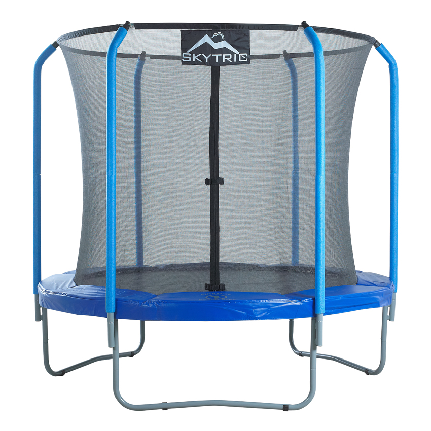 """SKYTRIC 8 FT. Trampoline with Top Ring Enclosure System equipped with the EASY ASSEMBLE FEATURE"""""""