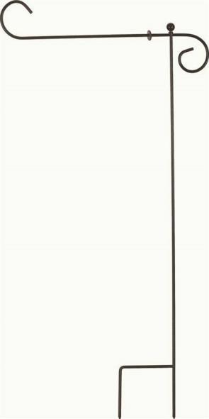 Valley Forge 60718 Garden Flag Holder, 18 x 12 in Flag, Steel, Black
