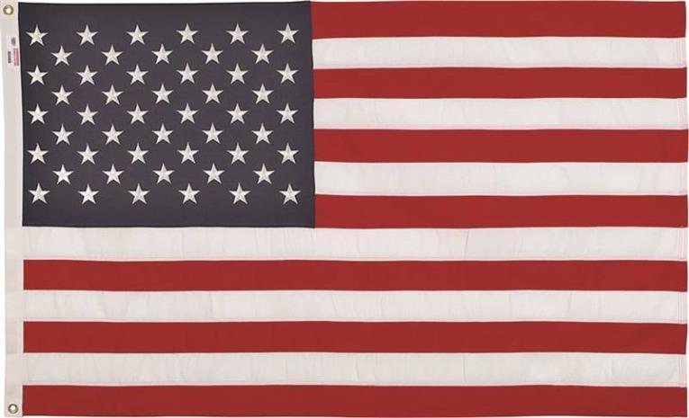 Valley Forge USDT3 USA Flag, 3 ft W x 5 ft L, Spun Polyester