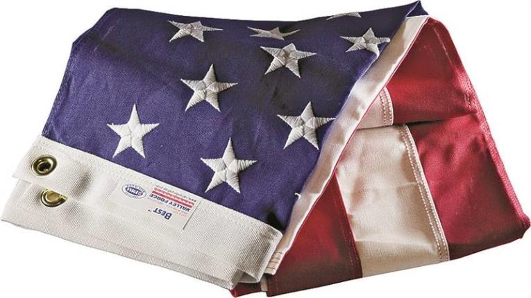 Valley Forge USB3 USA Flag, 3 ft W x 5 ft L, Cotton