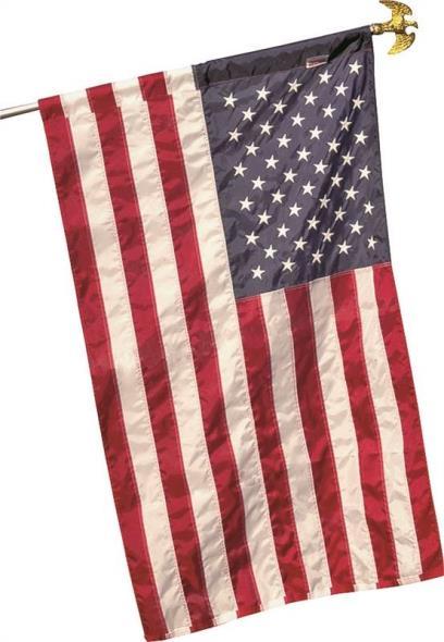 Valley Forge 60650 Hemmed USA Flag, 2-1/2 ft W x 4 ft L, Nylon