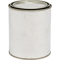 Valspar 27318 Empty Paint Can With Metal Lid, 1 qt, Metal, Silver