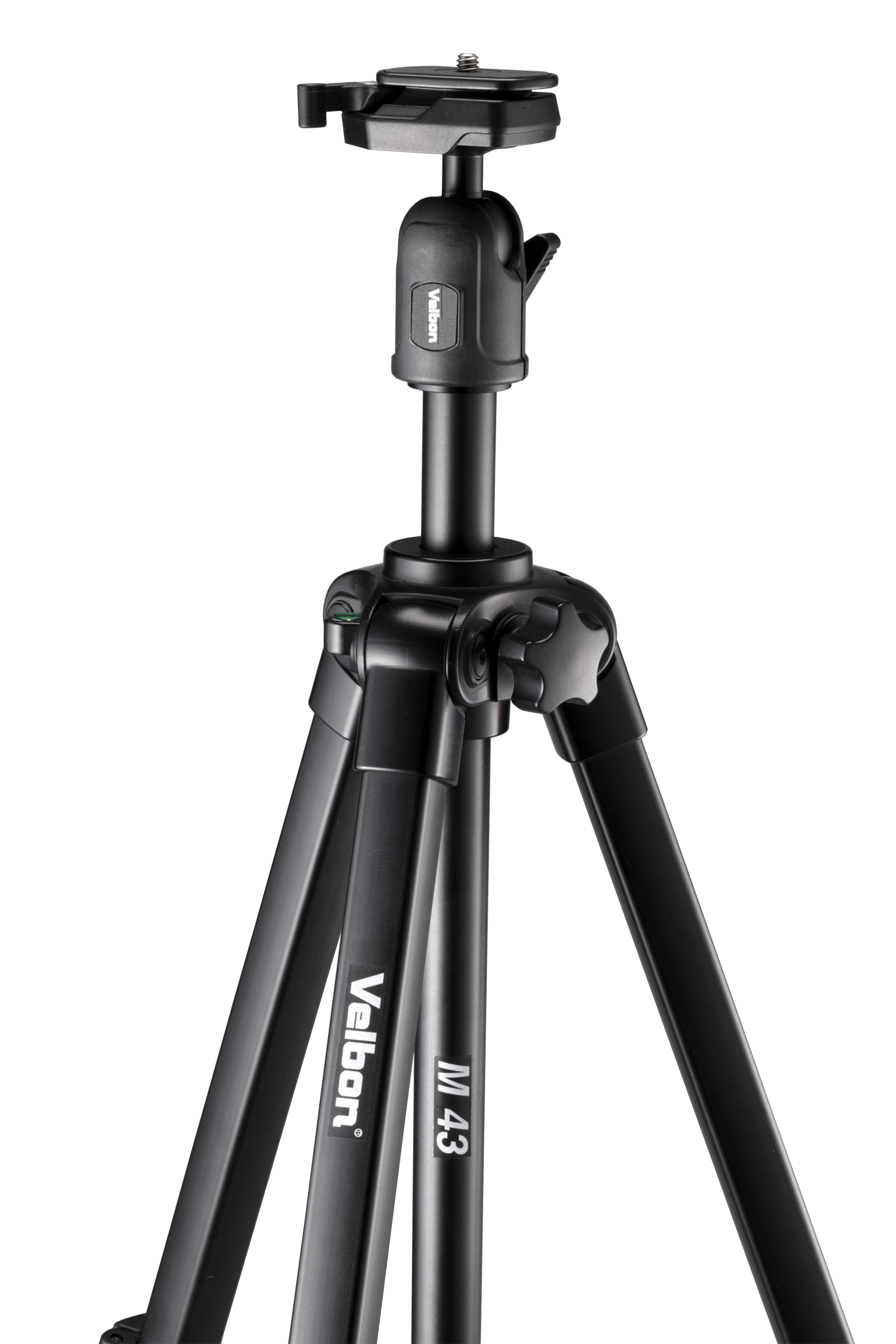 VELBON M43 4 SECOND, FULL SIZE TRIPOD, FLIP LEG LOCKS, LIFT