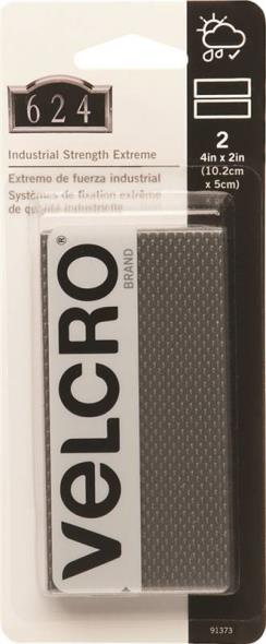 Velcro 91373 Industrial Strength Hook-and Loop Extreme Strip, 4 in L x 2 in W, Titan