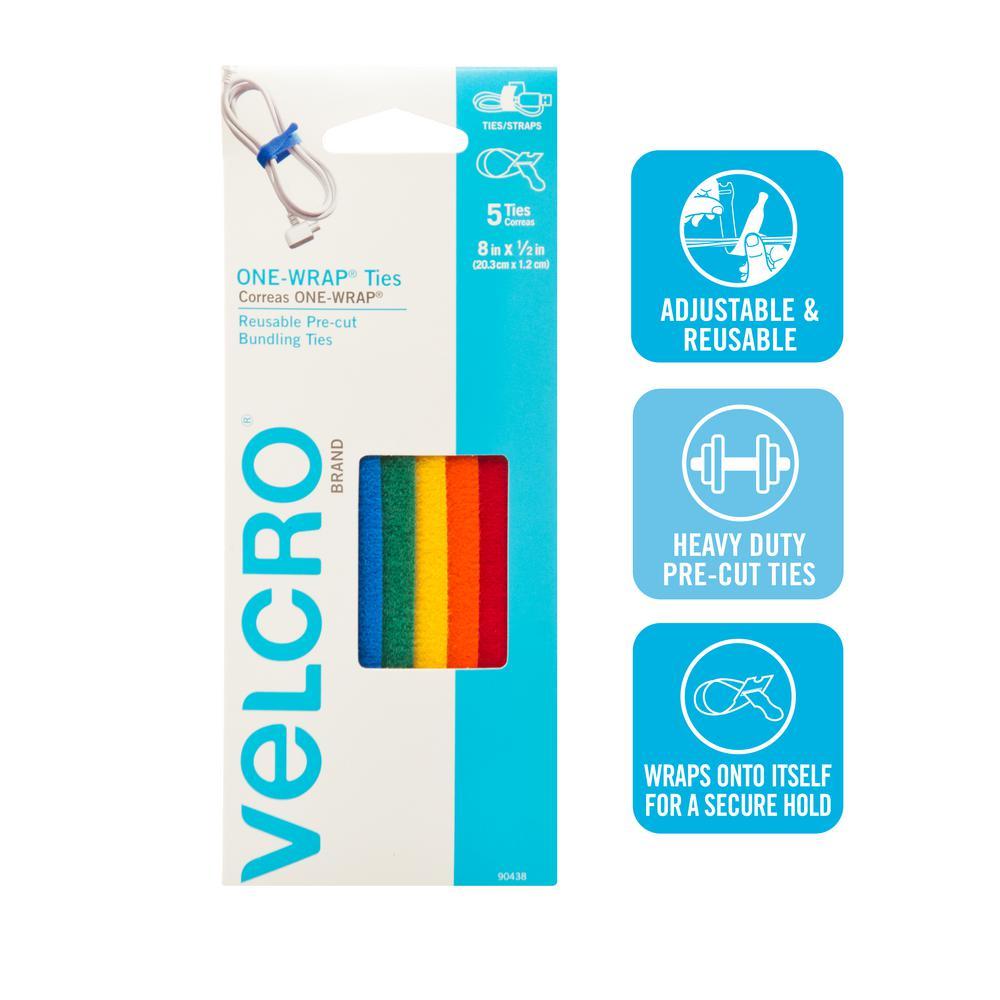 One Wrap 90438ACS Clip Strip Strap, 8 in L X 1/2 in W