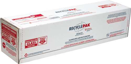 RECYCLEPAK� PREPAID LAMP RECYCLING BOX, 12 X 12 X 48 IN.