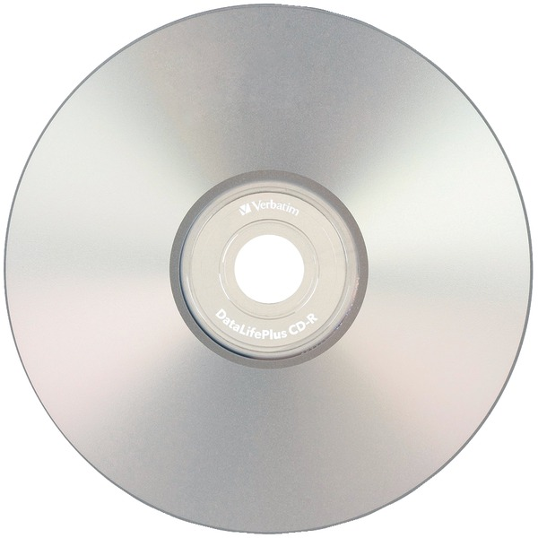 VERBATIM 94892 80-MINUTE/700MB 52X DATALIFEPLUS SILVER INKJET PRINTABLE CD-RS, 50-CT SPINDLE