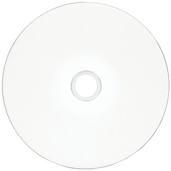 VERBATIM 97019 80-MINUTE/700MB 52X DATALIFEPLUS WHITE INKJET HUB PRINTABLE CD-RS, WRAPPED 100 PK