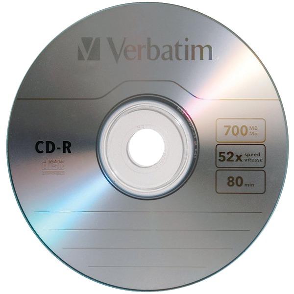 VERBATIM 97955 700MB 80-Minute CD-Rs, 10 pk