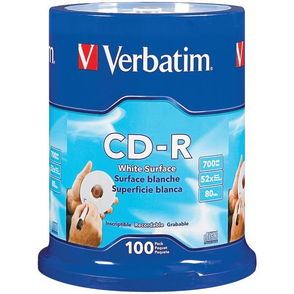 Verbatim 94712 700MB 80-Minute 52x CD-Rs, 100-ct Spindle