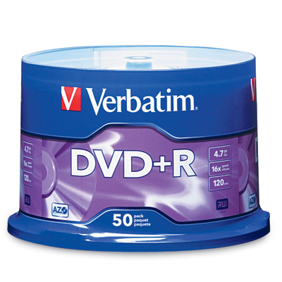 VERBATIM 95037 4.7GB DVD+RS (50-CT SPINDLE)