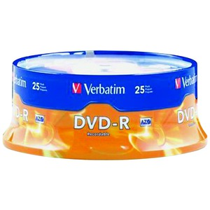 VERBATIM 95058 4.7GB DVD-RS (25-CT SPINDLE)