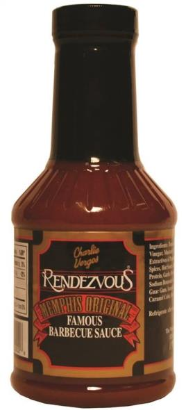 Rendezvous 2 BBQ Mild Sauce, 18 oz, For Use With Pork, Beef, Chicken, Fish and Lamb
