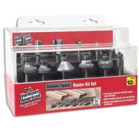 Vermont 23002 Router Bit Set, 12 Pieces