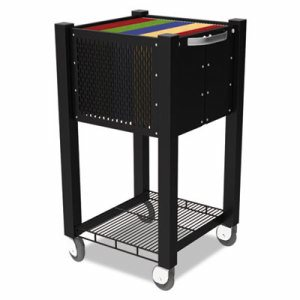InstaCart Sidekick File Cart, 14-1/4w x 16-1/4d x 27-3/4h, Black