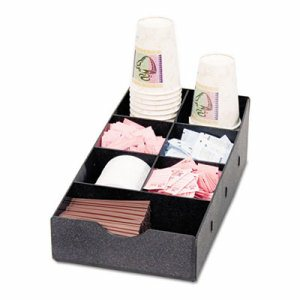 Condiment Caddy, 8 3/4w x 16d x 5 1/4h, Black