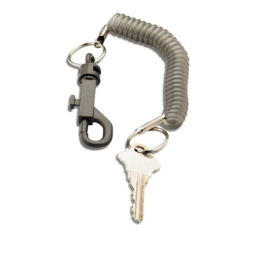 KEY CHAIN BELT CLIP COILED