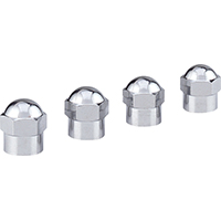 VALVE CAP CHROME HEX