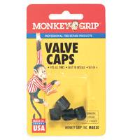 Monkey Grip M8830 Dome Tire Valve Cap, For Use With All Tires, Plastic, Black