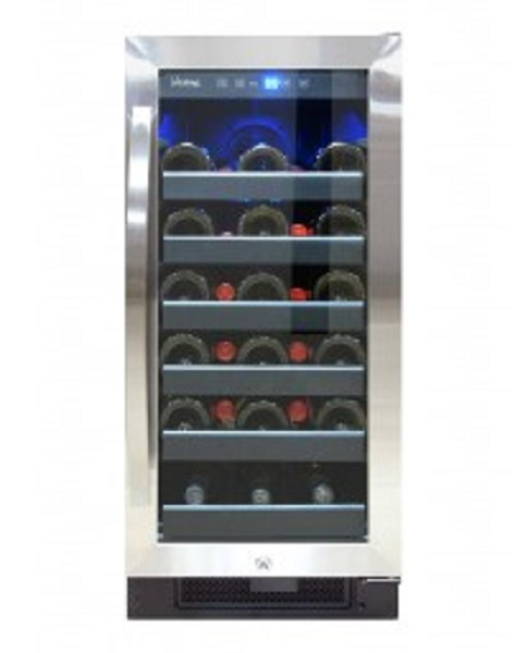 VINOTEMP VT32SBB 32 BOTTLE SINGLE ZONE WINE COOLER WITH PULL