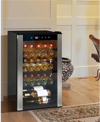 VINOTEMP EL35VCMS 34 BOTTLE WINE COOLER WITH 6 WIRE SHELVES