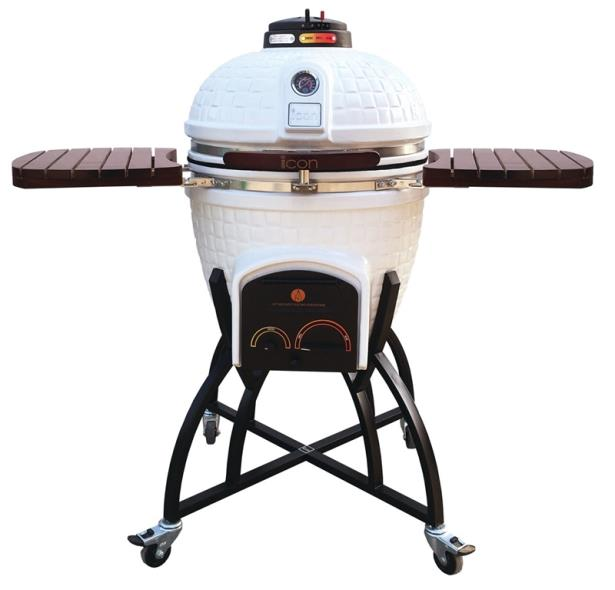 GRILL WHITE 604SQ IN W/COVER