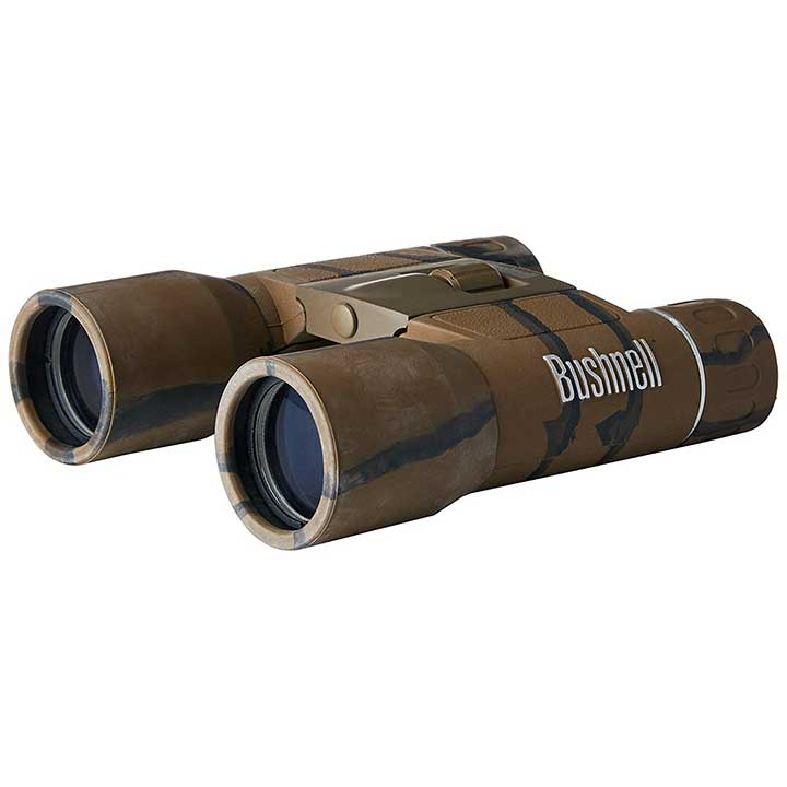 BUSHNELL POWERVIEW 10X25 COMPACT FOLDING ROOF PRISM BINOCULAR CAMO
