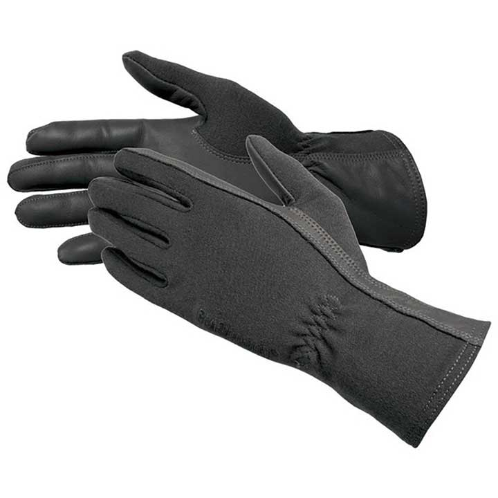 BLACKHAWK MEN'S AVIATOR FIRE RESIST. FLIGHT OPS GLOVES WITH NOMEX BLACK LG