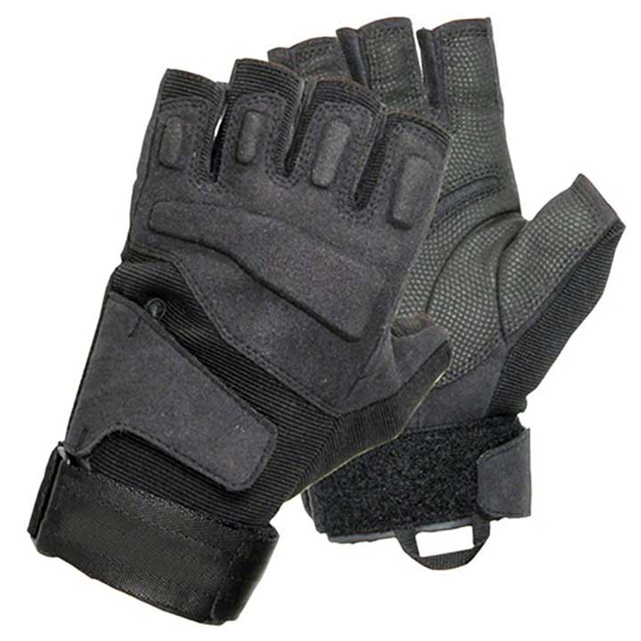 BLACKHAWK MEN'S BLACK SOLAG SPECIAL OPS 1/2 FINGER LIGHT ASSAULT GLOVE XXL