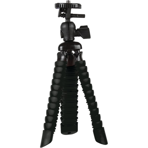 VIVITAR VIV-SP-7-BLK Small Rubberized Spider Tripod (Black)