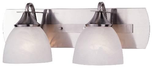 Durango 2-Light Bath Vanity Fixture, Brushed Nickel