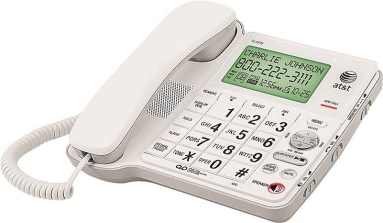 Vtech AT4939 Corded Speakerphone With Large Display Screen Digital Display