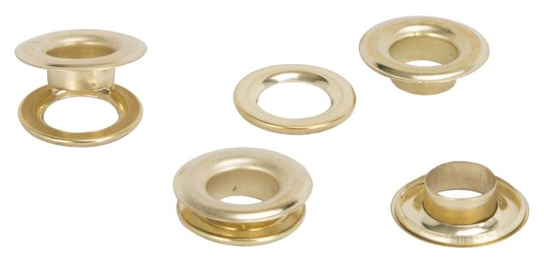 GROMMETS BRASS PLTD 25PC 1/2IN