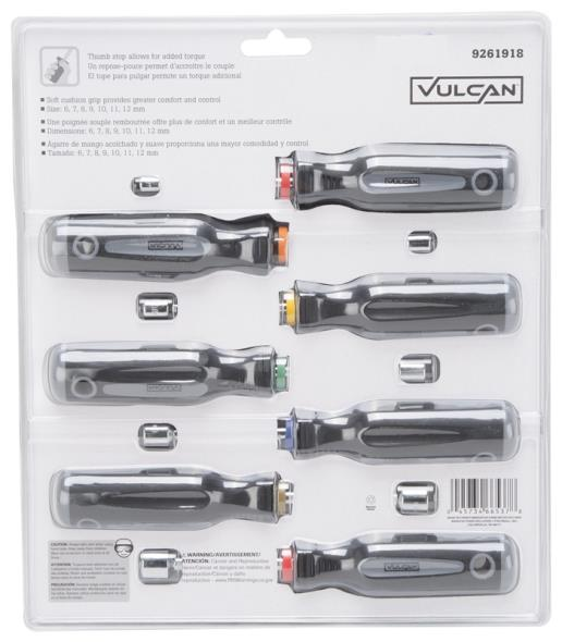 NUTDRIVER SET MC 7PC METRIC
