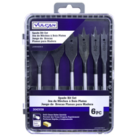 BIT SET WOOD SPADE 6PC 3/8-1IN