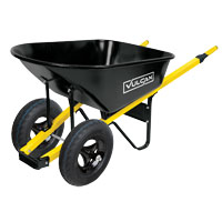 WHEELBARROW 2TIRES STEEL 6CUFT