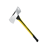 MintCraft 33709 Michigan Axe With Handle, 3.5 lb, 34 in OAL, Fiberglass Handle