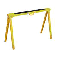 Vulcan YH-SH017 Folding Sawhorse, 1200 lb, 40 in H x 38-1/4 in W x 25-1/2 in D, Steel Handle, Yellow
