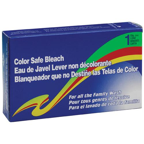 Color Safe Powder Bleach, Vend Pack, 1 load Box, 100/Carton