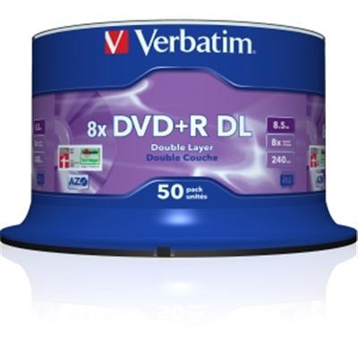 DVD+R DL 8.5GB 8X 50 pk spindl
